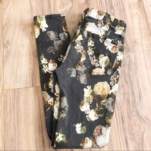 7 for all Mankind 7FAM Floral Jeggings Skinny Jean